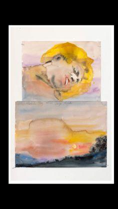 """Anselm Kiefer - """" Aller Abende Tag, aller Tage Abend [Le Jour de toute fin, la fin des jours] """", 2012 - Aquarelle sur papier - 49 x 36 cm"""