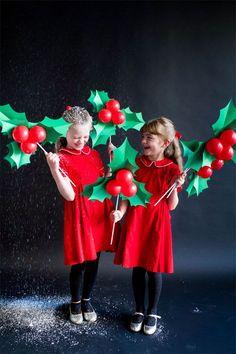 Holly Balloon Sticks