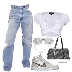Style by aaliyah on airdior stylebyaaliyah for daily fashion inspiration Style Outfits, Teen Fashion Outfits, Edgy Outfits, Swag Outfits, Retro Outfits, Cute Casual Outfits, Aesthetic Fashion, Look Fashion, 90s Fashion