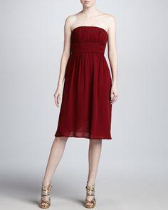 Strapless Silk Dress by Michael Kors at Neiman Marcus.