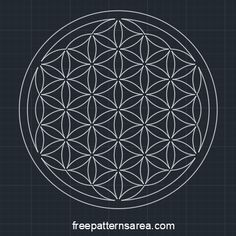 Geometry Flower Of Life Free 2D dwg File