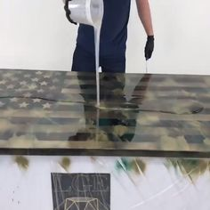 USA Epoxy Flag is part of Diy epoxy - Epoxy Wood Table, Epoxy Resin Table, Diy Epoxy, Diy Resin Art, Diy Resin Crafts, Woodworking Projects Diy, Diy Wood Projects, Epoxy Countertop, Countertops