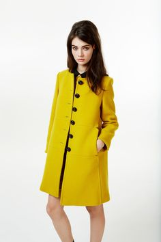 orla kiely fall 2013 by calivintage.  Cute coat.