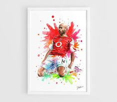 Thierry Henry Arsenal FC  A3 Art Prints of the by NazarArt on Etsy, $25.00