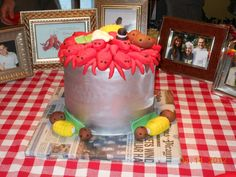 crawfish cake for engagement party created by Sweet Life Bakery in New Orleans (Lakeview)