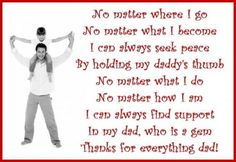 Thank you messages for dad: Poems and quotes to write on a Thank You card for your father Parents Poem, Dad Poems, Family Poems, Father Daughter Quotes, Friend Poems, Fathers Day Quotes, Dad Quotes, Happy Quotes, Family Quotes