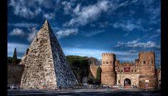 Pirámide de Cestius, en Italia. (Foto: flickr)
