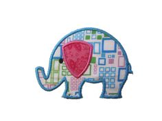 Jungle Week Elephant Applique