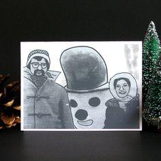 Funny Christmas Card, Funny Holiday card, Christmas card, Holiday card, Greeting…