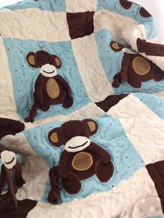 Monkey Quilt by WeeziesWorkshop on Etsy