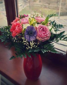 #flowers #buquet #vendastyle #roses #kytice #kvetina #jaro #spring #anemone
