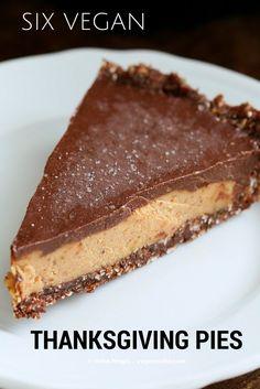 6 Vegan Thanksgiving Pies from wonderful vegan bloggers