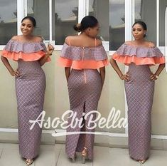 BellaNaija Weddings presents – Vol. 188 – The Latest Aso Ebi Styles Latest African Fashion Dresses, African Print Dresses, African Print Fashion, Africa Fashion, African Wear, African Attire, African Women, African Dress, Latest Aso Ebi Styles