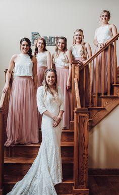 78212c06088 dusty rose tulle bridesmaid dresses  wedding  weddinginspiration   bridesmaids  bridesmaiddress  bridalparty