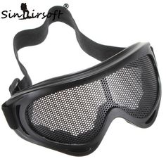 New Hot Sale Outdoors Hunting Airsoft Net Tactical Shock Resistance Eyes Protecting Outdoor Sports Metal Mesh Glasses Goggle