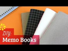 How to Make a Notebook: Saddle Stitch Memo Books - YouTube | tutorial on how to make 4 little memo books out of 1 spiral-bound notebook