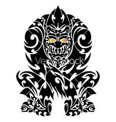 maori gorilla Bull Tattoos, Body Art Tattoos, Tattoo Maori, Tribal Tattoos, Gorilla Tattoo, African Tattoo, Silverback Gorilla, African Art, Ink