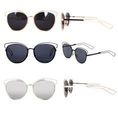 JONTE Women Oversize Metal Frame Sunglasses Fashion Glasses Unique Frame Design #JONTE #Butterfly