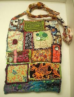 """Idea to make with extra material from Africa, and transfer some photos onto fabric. """" Memory Bag"""""""