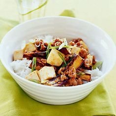 Spicy Eggplant, Pork, and Tofu Stir-Fry by Andrea Nguyen, author of Asian Tofu.
