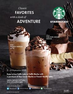 """Enjoy a free caffe latte or caffe mocha with a purchase of duo cocoa mocha or french vanilla latte,8-21 September 2015. """" Bali World Premier Beach Mall """" Discovery Shopping Mall, Jl. Kartika Plaza, Kuta 80361 Phone : 0361 755522 Website : www.discoveryshoppingmall.com https://twitter.com/DISCOVERY_Bali http://pinterest.com/dsmbali http://instagram.com/dsmbali http://www.facebook.com/pages/discovery-shopping-mall/ http://www.tripadvisor.co.id/Attraction_Review-g297697-d160……"""