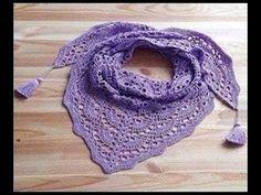 Chalina o chal paso a paso en crochet - YouTube Crochet Prayer Shawls, Crochet Tunic, Tunisian Crochet, Crochet Scarves, Diy Crochet, Crochet Crafts, Crochet Clothes, Crochet Stitches, Crochet Hooks