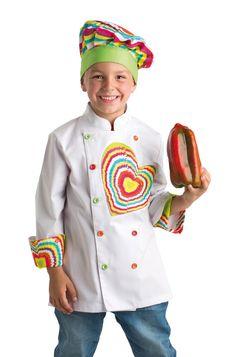 778d3c71e77 Chaquetilla y Gorro con Corazón Traje De Cocinero, Chaquetilla Cocinero, Chaqueta  Chef, Delantal