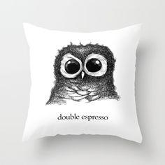 double espresso Throw Pillow