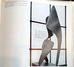 This sculpture by Ray Eames was exhibited at the Museum of Modern Art in New York City in 1944.  This illustration is from a book published in 1953 and shows Ray Eames art work as it was situated in the museum display.