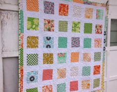 25% MOTHERS DAY SALE- Patchwork Baby Quilt-Beauty in the Randomness-