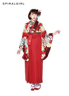 袴 PN-5 Japanese Costume, Japanese Kimono, Japanese Outfits, Japanese Fashion, Kimono Fashion, Fashion Outfits, Modern Kimono, Yukata Kimono, Kimono Design