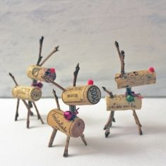 Crafty Wine Cork Reindeer Games