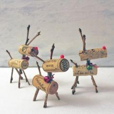 Crafty Wine Cork Reindeer Games
