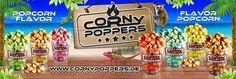 #CornyPoppers Gourmet #Popcorn