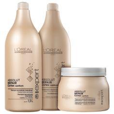 17960dae7 Kit L Oréal Professionnel Expert Absolut Repair Cortex Lipidium Salão (3  Produtos)
