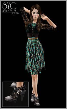 Sims York City: Green Dress