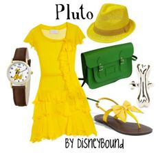 This is such a cute collection by DisneyBound inspired by Pluto.