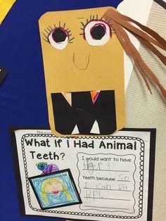 if i had animal teeth craft writing arts crafts animal adaptations kindergarten art. Black Bedroom Furniture Sets. Home Design Ideas
