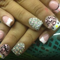 Hello kitty acrylic nails by Celeste Young
