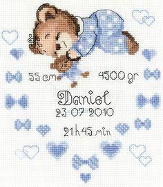 Baby Birth Announcements - Cross Stitch Patterns & Kits - 123Stitch.com