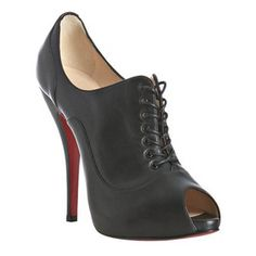 Noticeable & Discount Christian Louboutin Lady Derby 120 Lace Up Nappa Black Outlet | Genuine Christian Louboutin Sale Uk