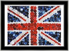 Union Jack in vintage buttons - love it!