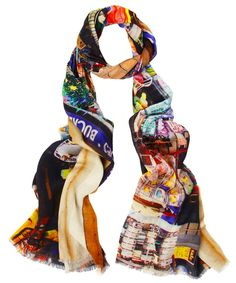 Eastbourne Gift Shop Bamboo Mix Scarf, Lily and Lionel Punch And Judy, Best Of British, Textile Design, Scarf Wrap, Scarves, Lily, Bamboo, My Style, Telephone