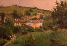 Village Path, 1875, by Camille Pissarro, 1830-1903