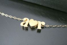 Lowercase Initial Necklace Alphabet Letter Charm by ElegantSwan