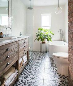 Master bath vanity and flooring