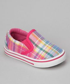 Every little diva looks darling in sweet slip-on shoes. Decked out in preppy plaid, this pair makes a perfect pick.