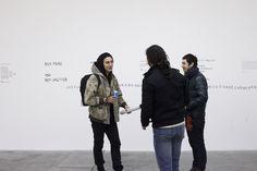 50 partitions // Exposition du 14 décembre 2012 au 26 janvier 2013 // Soirée du vernissage ©Rebecca Bowring