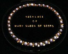 A royal necklace of Scottish freshwater pearls set in gold, owned in the century by Mary Queen of Scots. She may have been given these pearls by Catherine de' Medici, the mother-in-law of Mary's first marriage. Medieval Jewelry, Ancient Jewelry, Antique Jewelry, Vintage Jewelry, Wiccan Jewelry, Vintage Pearls, Royal Jewelry, Pearl Jewelry, Silver Jewelry