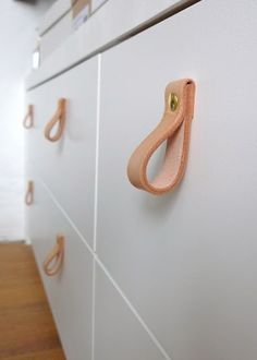 Leather Handles 15 Knob and Handle DIYs to Transform Your Cupboards and Drawers Instantly http://2via.me/ibzVj5QD11